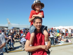 Tim and Josiah at Miramar Airshow