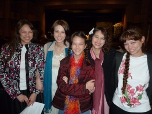 Victoria, Sarah, Elizabeth, Joanna, and Nicole after the performance.