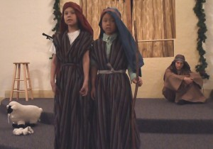 Josiah (on the left) as a Shepherd
