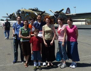 In Front of a B-17. Click for full size