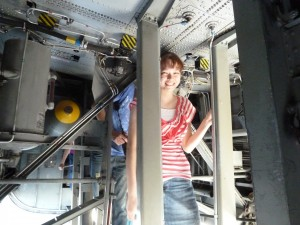 Nicole in a B-24. Click for full size.