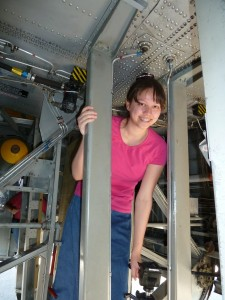 Victoria in a B-24. Click for full size.