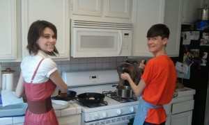 Joanna and Jeffrey Cooking