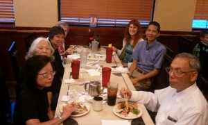 Cyrilla, Betty, Vivian Pai, Bev Stogdill, Jeri, Tim, and Michael Pau. Click for full size.