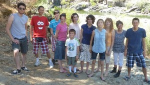 Family Down by the Merced River. Click photo for full size.