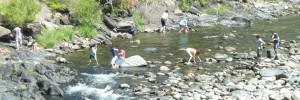 Family Playing in the Merced River. Click photo for full size.