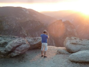 Jason Taking a Photo at Taft Point