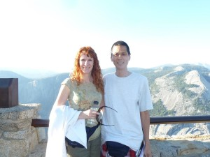 Jeri and Tim at Glacier Point. Click for full size.