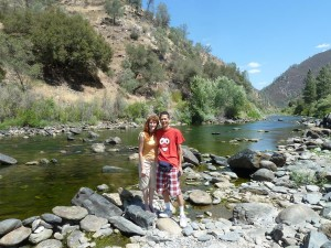 Jeri and Tim at Merced River Recreation Area. Click photo for full size.