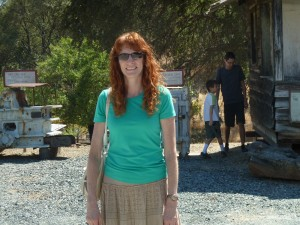 Jeri at Coulterville Museum. Click on photo for full size.