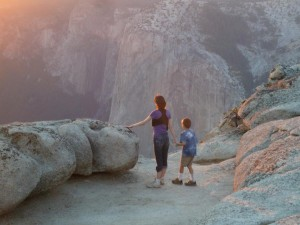 Joanna Escorting Josiah at Taft Point