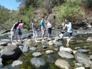 Joanna, Nicole, Victoria, Jeffrey, Sarah, Josiah, and Lizzie at Merced River Recreation Area. Click photo for full size.