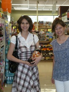 Joanna and Victoria at the Pioneer Market. Click on photo for full size.