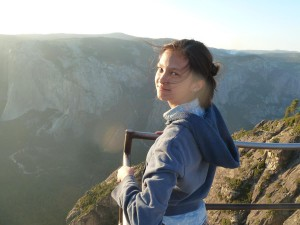 Lizzie at Taft Point
