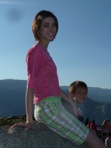 Sarah and Josiah at Glacier Point. Click for full size.