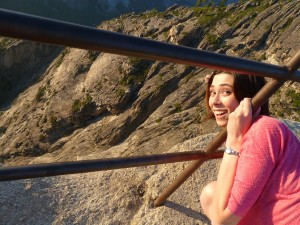 Sarah at Taft Point