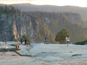 Sunset Approaches Taft Point