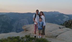 Tim, Jeri, and Josiah at Taft Point