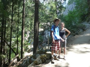 Tim and Lizzie on Mist Trail. Click on photo for full size.