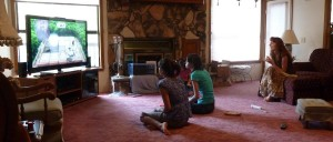Victoria, Joanna, and Jeri Playing Wii Party U. Click on photo for full size.