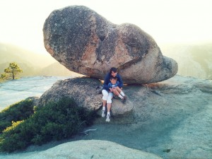 Victoria and Josiah near Taft Point. Click for full size.