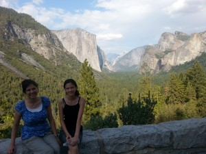 Victoria and Lizzie at Tunnel View. Click photo for full size.