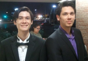Jeffrey and Jason after the Beethoven Concert. Click photo for full size.
