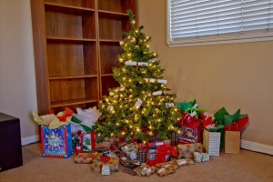 Christmas Tree with Presents. Click photo for full size.