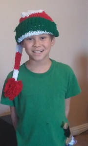 Josiah with a Christmas Stocking. Click photo for full size.