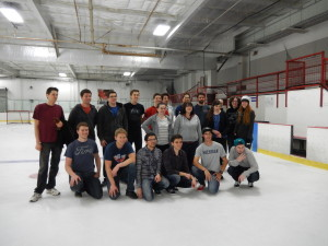 Group Photo after Broomball. Click photo for full size.