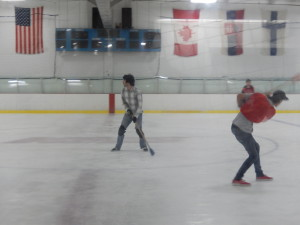 Jason Playing Broomball. Click photo for full size.
