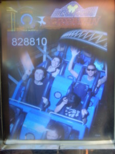 Jeffrey, Sebastian, Sarah, and Tim on California Screamin'. Click photo for full size.