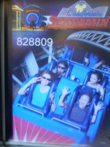 Jeri, Josiah, Jessica, and Lizzie on California Screamin'. Click photo for full size.