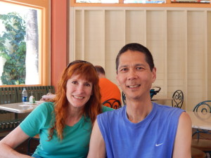Jeri and Tim at Lunch. Click photo for full size.