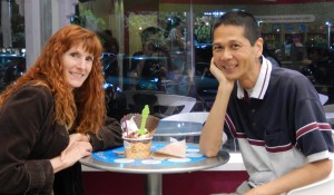 Jeri and Tim at Menchie's. Click photo for full size.