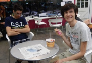 Justin and Jeffrey at Menchie's. Click photo for full size.