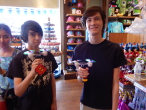Sebastian and Jeffrey in a Disney Shop. Click photo for full size.