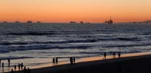 Sunset at Huntington Beach. Click photo for full size.