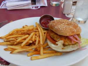 The Vegan Burger at the Carnation Cafe. Click photo for full size.