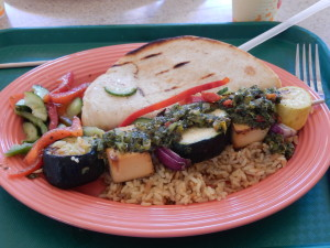 Tofu and Veggie Skewer for Lunch. Click photo for full size.