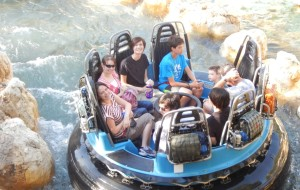 (Upper left, counter-clockwise) Jeffrey, Nicole, Victoria, Jason, and Sebastian on Grizzly River Run. Click photo for full size.