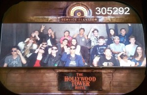 Hollywood Tower Hotel Wearing Sunglasses. Front: Justin, Joanna, Jeffrey, Tim. Behind them: Jeri and Josiah. Click photo for full size.