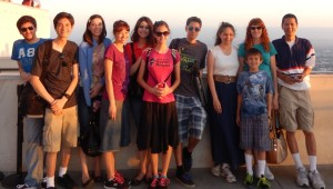Jason, Jeffrey, Sarah, Nicole, Joanna, Lizzie, Justin, Victoria, Josiah, Jeri, and Tim at the Griffith Observatory. Click photo for full size.
