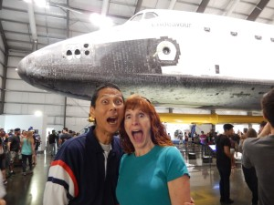 Tim and Jeri in front of the Endeavour. Click photo for full size.