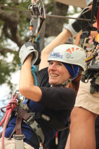 Jeri Ready for Her First Zip. Click photo for full size.