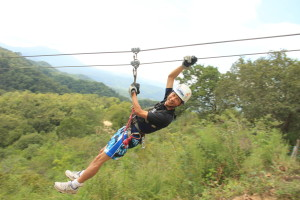 Tim Zips Down His First Zip Line. Click photo for full size.