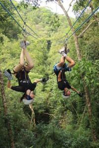 Ziplining Upside Down. Click photo for full size.