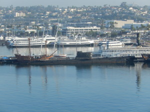 B-39 Submarine in San Diego viewed from our Cruise Ship. Click photo for full size.