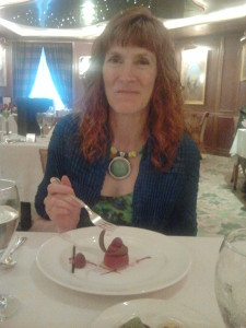 Jeri Enjoying Her Dessert. Click photo for full size.