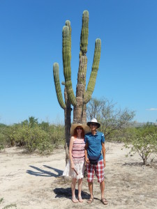 Standing Next to a Cardon Cactus. Click photo for full size.